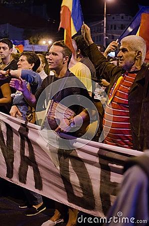 Rosia Montana Protest in Bucharest,Romania - 08 September(11) Editorial Stock Photo