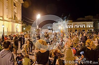 Rosia Montana Protest in Bucharest,Romania(7) Editorial Stock Photo