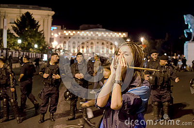 Rosia Montana Protest in Bucharest,Romania(8) Editorial Stock Image