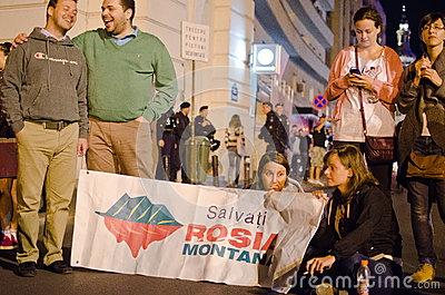 Rosia Montana Protest in Bucharest,Romania(9) Editorial Photography