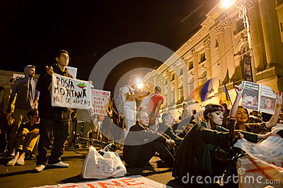 Rosia Montana Protest in Bucharest,Romania(10) Editorial Stock Image