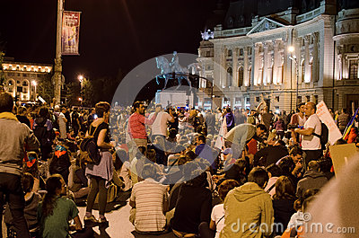 Rosia Montana Protest in Bucharest,Romania(11) Editorial Stock Image
