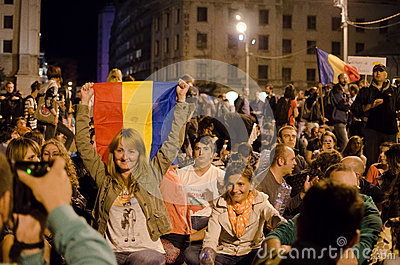 Rosia Montana Protest in Bucharest,Romania(15) Editorial Photography