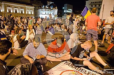 Rosia Montana Protest in Bucharest,Romania(20) Editorial Photo