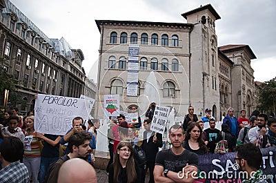 Rosia Montana Protest in Bucharest,Romania(22) Editorial Image