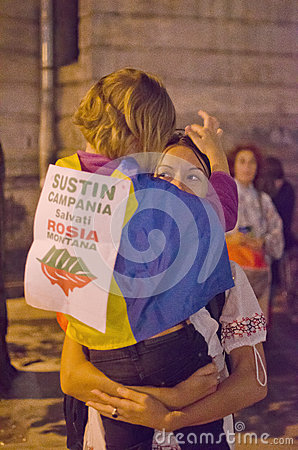 Rosia Montana Protest in Bucharest,Romania(24) Editorial Photography