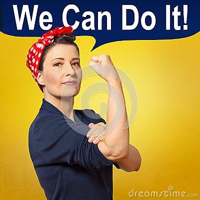 Free Rosie Riveter Woman Copy Space Stock Photography - 111578252