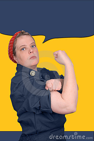 Free Rosie The Riveter Royalty Free Stock Photography - 2031977