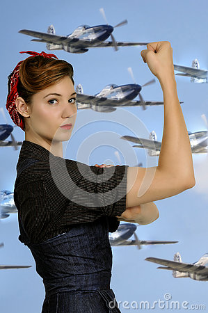 Free Rosie The Riveter Royalty Free Stock Images - 81750379
