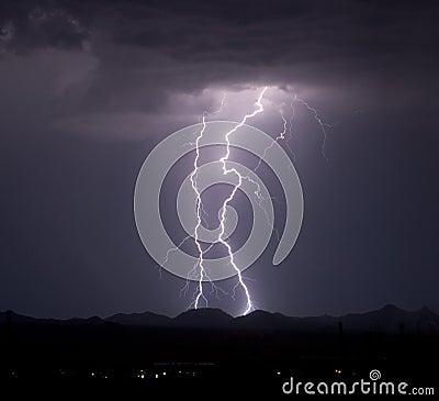 Roskruge Mountain Lightning