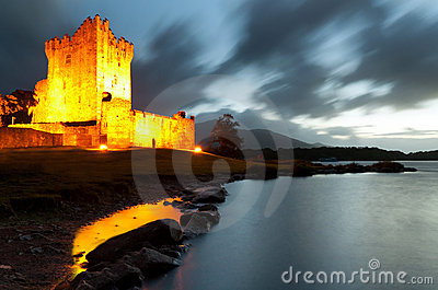 Ross castle at night, Co. Kerry - Ireland