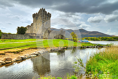 Ross Castle with reflection in Co. Kerry