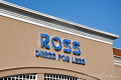 Ross Dress for Less sign Editorial Stock Image