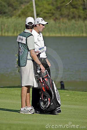 Ross Fisher & Caddy, on the 17th Fairway - NGC2009 Editorial Photography