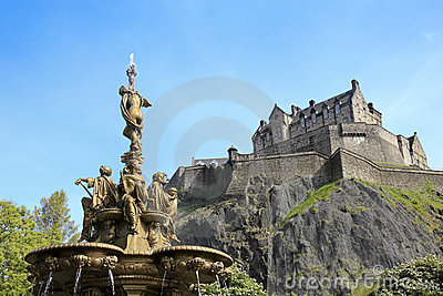 Ross fountain edinburgh castle scotland
