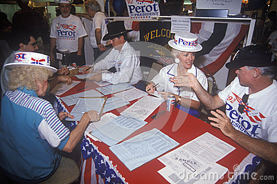 Ross Perot for President petition drive Editorial Photography