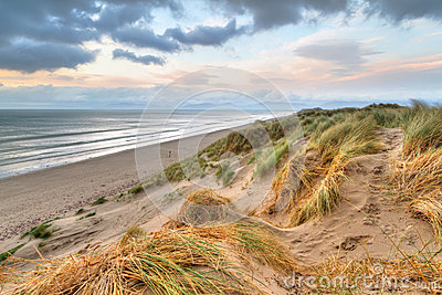 Rossbeigh dunes at sunset
