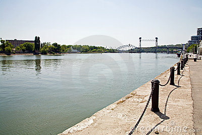 Rostov-on-Don city and river Don
