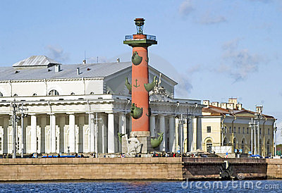 Rostral column and Old Stock Exchange