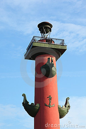 Rostral Column in Saint-Petersburg, Russia