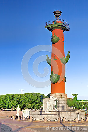 Rostral Column  in St Petersburg in Russia