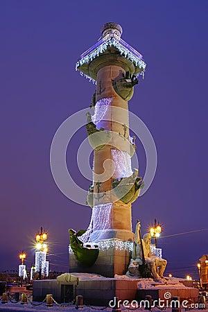 Rostral kolom, heilige-Petersburg, Rusland
