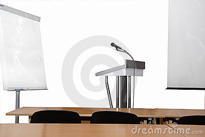 Rostrum and microphone