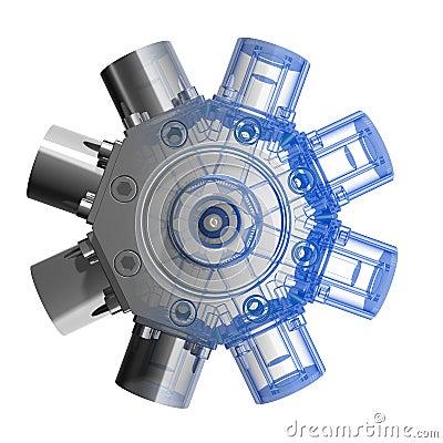 Rotarry engine (3D xray)