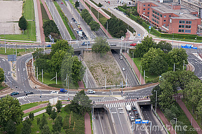 A rotary intersection in the Netherlands