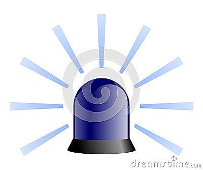 Rotating Beacon - Blue