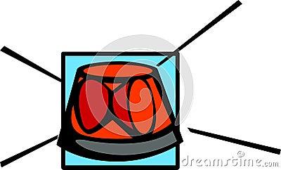 Rotating beacon light vector illustration