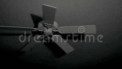 Rotating Ceiling Fan Gradually Slows To A Stop In Dark Room At Night Stock Footage Video Of Light Chilling 143010786