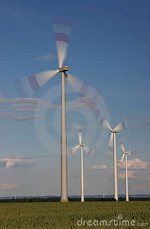 Rotating wind turbines