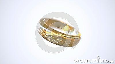 Rotation d'anneau d'or banque de vidéos