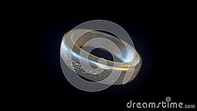 Rotation d'anneau en métal clips vidéos