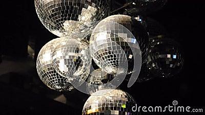 Rotation de boules de disco banque de vidéos