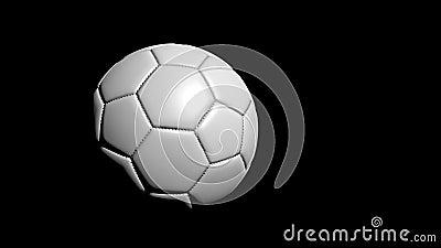 Rotation de fond du football banque de vidéos