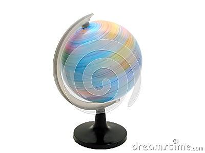 Rotation de globe de la terre