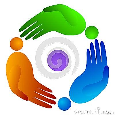 Rotation people hand