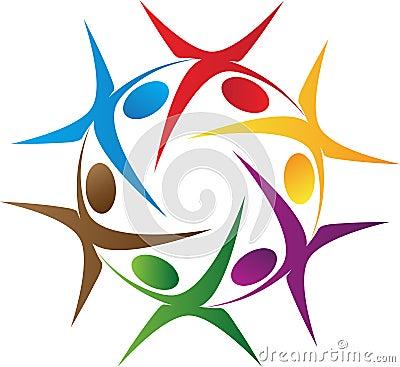 Rotation people logo
