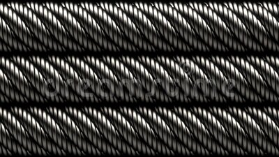 Rotazione di forma a spirale di metallo astratta o a cavi metallici video d archivio