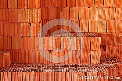 rote bausteine auf baustelle stockbilder bild 28028064. Black Bedroom Furniture Sets. Home Design Ideas