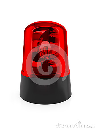 Rote blinkende Leuchte