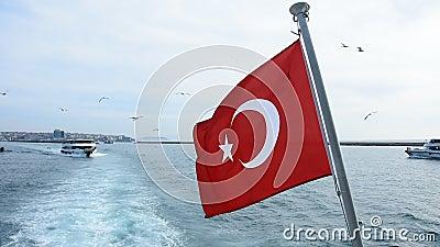 Rote Fahne der Republik Türkei stock video
