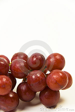 Rote saftige samenlose Trauben