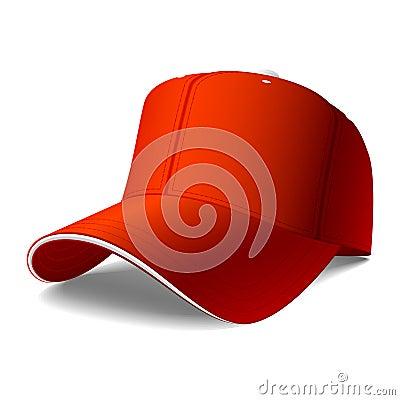 Rote Schutzkappe. Stecken Sie Ihr Zeichen oder Grafiken ein.