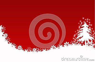 rote sternblumen der weihnachtsbaum karte stockfotografie. Black Bedroom Furniture Sets. Home Design Ideas