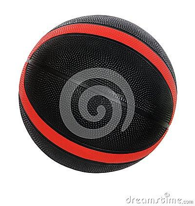 Rote und schwarze Basketballkugel