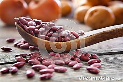 Rote weiße Bohnen