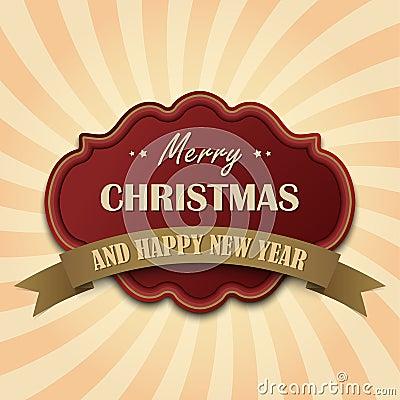 Rote Weinlese Retro- Weihnachtskarte